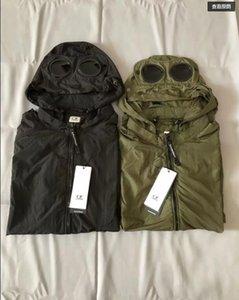2019 Avrupa En yeni CP C.P ŞİRKET rüzgarlık metal naylon iki bardak erkekler açık ceket gündelik CP hoodies ceket ceket boyutu M-XXL terlik