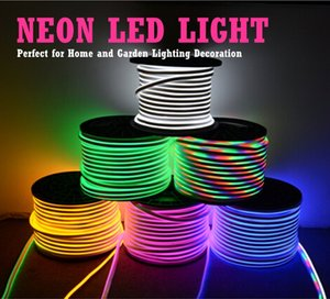 led strip 220v neon signs led pc rgb tape smd2835 strips ruban etanche el tape neon flexible bande 5m Stage fairy lights