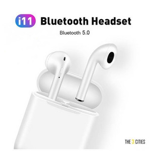Hot i11TWS Bluetooth 5.0 Wireless Earphones Button Control Earpieces Headphone mini Earbuds With Pop Up Window For All Smartphones
