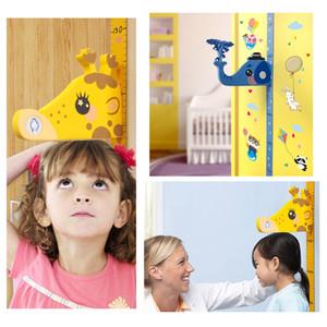Los niños extraíble 3D Altura instrumento de medición Tabla de medida Medida de la etiqueta engomada de la pared para Niños habitación del bebé