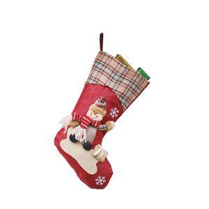 Mini Merry Christmas Plaid doces Sacos Presentes Sock pacotes Decor Ano Novo