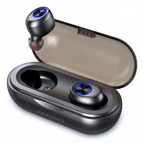 새로운 캡슐 TWS 무선 이어 버드 V5.0 블루투스 이어폰 헤드셋 삼성 전자 아이폰에 대한 깊은베이스 스테레오 사운드 스포츠 이어폰