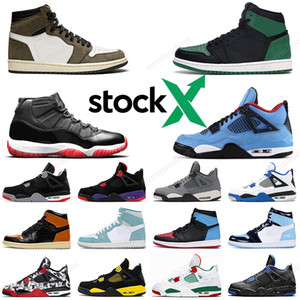 Nike Air Jordan retro 11 Bred 378037-061 Concord 11s Mens Basketball shoes Cap and Gown 13s Lucky Green 12s 4 10 9 12 13 6 Game Ball travis scott Cactus Jack 6 Men Sports sneakers
