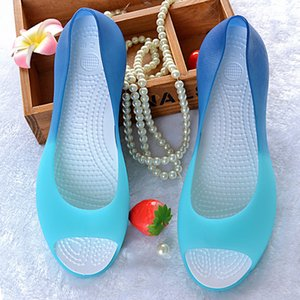 Women Jelly Beach Shoes Summer Sandals Candy-colored Mixed-color Resin Waterproof Wedges Size 36~40 Season Sale SJ146