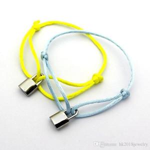 Pay4U famosa marca de joyería al por mayor Lock Charm Hombres Mujeres pulsera de acero inoxidable 316L colgante amor pulsera brazalete con la cadena de la cuerda