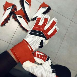 Горячей!!! AD PREDATOR PRO 2018 Вратарские перчатки Allround Латексный профессиональный вратарь Футбольные перчатки Bola De Futebol Luva De Goleir
