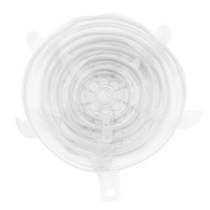 Упаковка из 6 Силикон Bowl Крышка силикона Stretch Люки многоразовый всасывания уплотнения крышек для чаши, горшки, чашки. Питание Безопасный