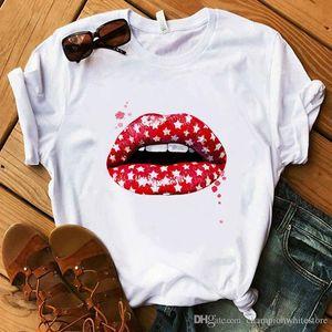 Verão Designer Womens Casual T-shirts cor sólida captura dólar Impresso manga curta TopsLadies 2020 roupas de grife de luxo