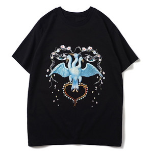 Uomo Donna T Hop Uccello stampa Mens Stylist T Shirt Mens T Shirt manica Hip corto di alta qualità Polo formato S-XXL