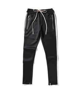 2019 New Side Fear Of God Pantalones con cremallera Hip Hop Ropa urbana Ropa de fondo rojo Pantalones de chándal 3tyle S-2XL