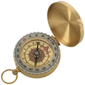 Classic Brass Pocket Watch Style Camping Compass Survival Bracelets