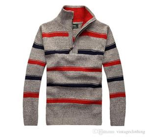 Para hombre otoño invierno primavera Nueva rayas suéteres con capucha sutumn Casual Male Tops Jerseys más el tamaño M-3XL