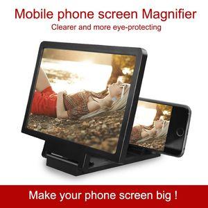 Pantalla de vídeo 3D amplificador plegable ampliada Expander Soporte pantalla del teléfono móvil soporte de exhibición lupa de la protección de ojos Expander