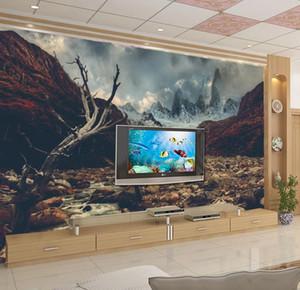 2020 papéis de parede arte Wasteland Background Internet Cafe Wallpaper HD 3D Murais Wallpaper melhoria home