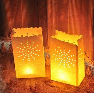 Lanterne Bougie Sac Lumignon Porte-Coeur papier de soirée de mariage décoration de la maison