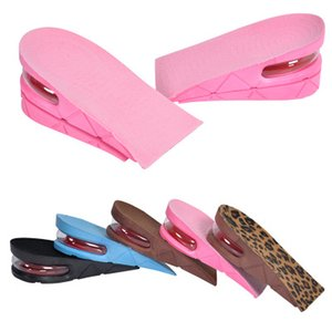 5 Colors Height Increase Insole Adjustable 2-Layer 5CM Air Cushion Invisible Pads Soles Insoles Inserts For Shoes Men Women