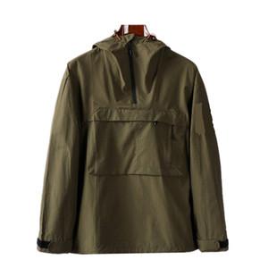 Мужские куртки с капюшоном на молнии карманная куртка молодежь мода европейские и американские повседневные пальто мужские пальто нейлоновая ткань мужская оболочка против выплеска