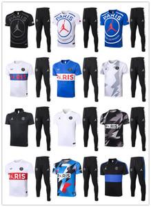 2020 2021 PSG pantalon Polo à manches courtes + maillot d'entraînement de football Survetement 20 21 Paris X Jordam le football Mbappe Survêtement