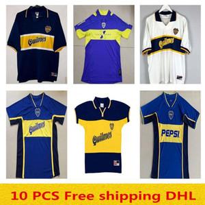 Top Thailandia 2002 2005 97 98 1999 Boca Juniors Retro Jersey Maradona Caniggia Camiseta casa 2002 1998 Classic Maillot Camiseta de Futbol