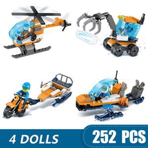 kız erkek çocuklar için Legoing İl uçak ekskavatör Mini Arcti Hediyesi ile uyumlu 252PCS Küçük Yapı Taşları Oyuncak DIY
