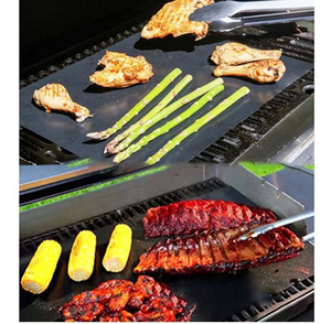 Bbq Gill Matt Portable Non-stick And Reusable Make Gulling Easy 33 * 40CM Black Oven Hotplate Mats Barbكيو Tool EEA86
