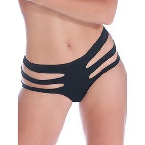 Femmes Noir Erotic évider Bandage Lingerie sexy Culottes Thong Underwear