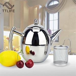 atacado de aço inoxidável de 1L / 1,5 Coffee Pot com filtro Durable bule de café da água Chaleira Casa Cozinha coffeeware Ferramenta Tea