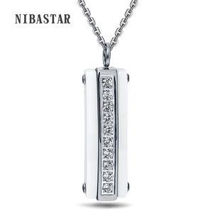 Haufen hängende Halskette Art und Weise weiße schwarze Keramik CZ-Kristall Anhänger Halskette für Frauen-Qualitäts-Stianless Stahl Halskette Frauen Jewe ...