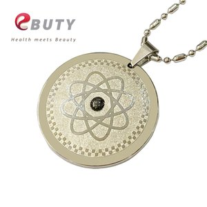 EBUTY Women Elegant Pendant Stainless Steel Jewelry Accessories Fashion Health Negative Ions Pendants Silver Charms with Chain