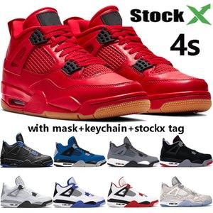 2020 الجديدة 4 فون 4S jumpman أحذية كرة السلة القطة السوداء ولدت أجنحة النار الفردي الحمراء الظهور وشم الشبح أوريو الرجال الرجال المصمم أحذية رياضية