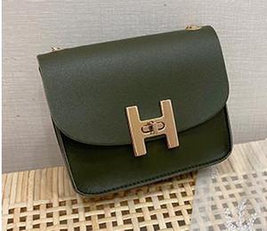 2020 newset Designer Bag Casual Ombro Mensageiro quadrado pequeno saco de Cadeia de Mulheres Bloqueio Handbag