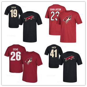 # 19 Шейн Доан Блэк # 26 Майкл Стоун мужская Аризона Койоты Хоккейные майки Фанаты Топы Футболки повседневные Спортивные рубашки Марка с логотипом
