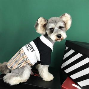 Yaz Pet Köpek Kısa Tişörtler Pet Harf Baskılı Tişörtler Giyim Schnauzer Hiromi Bulldog Pet Köpek Şort Giyim
