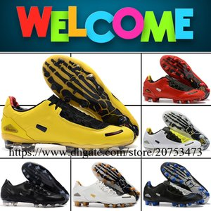 Total 90s Laser Mens FG Spikers Soccer Shoes Football Cleats High Quality Firm Ground Outdoor Trainers Leather Soccer Boots Size 6.5-12