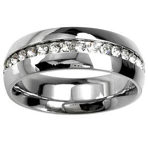 9K 9CT White Gold Filled with Crystal Men Women Wedding Ring R84 Sz 6-10
