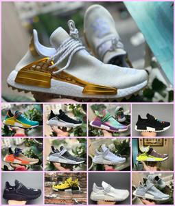 2019 Yeni Pharrell Williams İnsan Yarışı NMD erkekler kadınlar Spor Koşu Ayakkabıları Siyah Beyaz Gri Nmds primeknit PK koşucu XR1 R1 R2 Sneakers