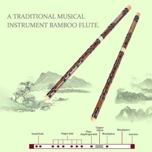Flûte traversière en bambou vent Instrument de musique Débutant étudiants Formation Pratique traditionnelle main professionnelle bambou Flûtes