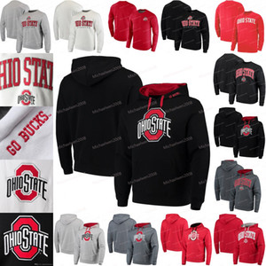 Ohio State Buckeyes Maillots Colosseum Big Arc Pull Chandail Sweat Noir Blanc Rouge Gris