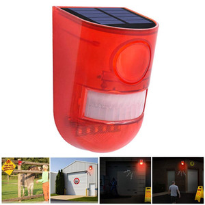 Clignotant solaire Alarme sonore stroboscope Capteur de mouvement de sécurité du système d'alarme sirène pour Home Villa Ferme Hacienda Appartement
