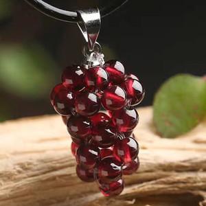 Cristal naturel Grenat Pendentif mode Pendentif type raisin grenat agate rouge féminin gros