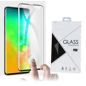 3D gekrümmte gehärtetes Glas-Display-Kantenkantenkleber für Samsung Galaxy S10 S10 5G S10 plus 100 stücke Einzelhandelspaket
