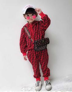 2020 Child Langarm-Kapuzenshirt Hose Trainingsanzüge AutumnTwo Stück Sets neue Kinder Cotton Sweatsuit Baby Jungen-Mädchen-neue Kleidung Outfit