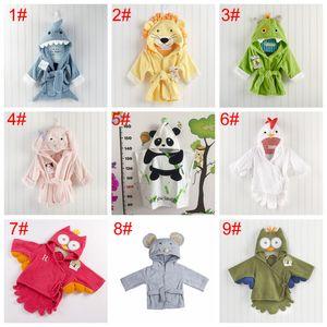 Милые мальчики девочки животных уши халат с капюшоном ванна тарелки полотенца младенческая детская с длинным рукавом толстовки ремень детские одеяния