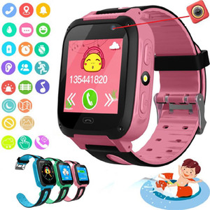 Smart Kids Watch Phone GPS enfant intelligent montre étanche Antil-SIM perdu Emplacement Tracker Smartwatch Appel vocal