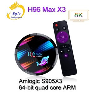 H96 MAX X3 Smart TV BOX Android 9.0 S905X3 4K Media Player 2.4G & 5G Wifi 4GB RAM 64GB ROM H96MAX X3 android tv box