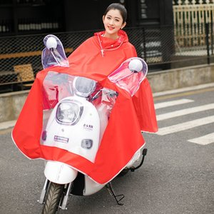 2020 Cloak bicycle single connected Oxford raincoat electric bicycle waterproof poncho colorful adult raincoat