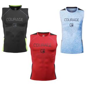 Minceur Body Shaper Gilet sans manches Hommes Débardeur Muscle Vest Undershirts T-shirts d'impression Gym Hauts Jogger Plein Air Tissu