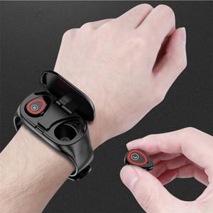 M1 Bluetooth fone de ouvido com AI relógio inteligente Heart Rate Monitor inteligente Pulseira Long Time espera aptidão Pulseira Sport Watch