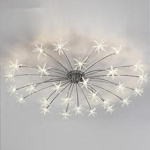 Modern Sky Salon Işık Fikstür Ev Dekorasyonu Lambası Lustres Aydınlatma Led Tavan Lambası Yatak Romantik Tavan yıldız