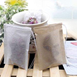 60 80mm X pulpa de madera papel de filtro desechable tamiz del té de filtros de bolsa con cordón individual Heal sello bolsas de té sin blanqueador EEA382